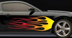 Draw Flames on a car really easy