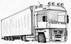 learn to draw semi truckstep by step with pictures