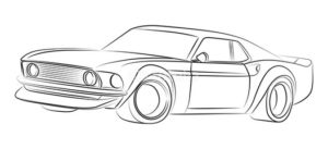 super easy ways to draw a sports car