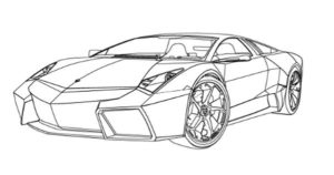 drawing sports cars 3 easy steps